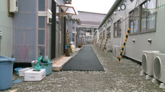 Japan 3-11 Earthquake Tsunami: Temporary Housing - stock footage