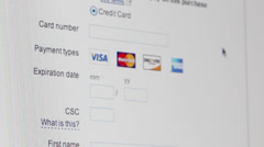 credit card secure payment online (editorial) - stock footage