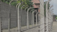 Stock Video Footage of Concentration Camp - pavilion and fence 3