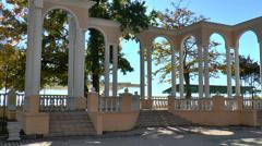 The resort Evpatoria: Rotunda Stock Footage