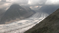 Great  Aletsch Glacier - Switzerland Stock Footage