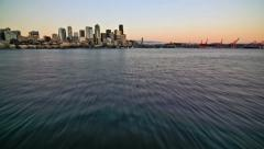 Seattle Ferry Ride Front View Time Lapse Stock Footage