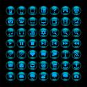 Stock Illustration of Round icons (blue)