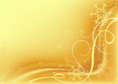 Gold Christmas Abstraction Stock Illustration