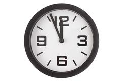 Stock Photo of minutes to midnight