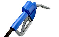 petrol handle and nozzle back - stock illustration
