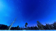 Stock Video Footage of Night starry sky on a fisheye. Fixed distortion. Time Lapse
