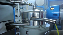 Olive oil production Stock Footage