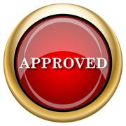 Approved icon Stock Illustration