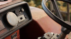 old tractor - stock footage