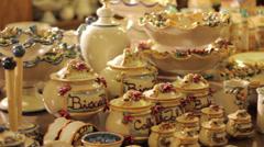 Stock Video Footage of Ceramics of Caltagirone Sicily Italy
