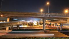 Motorway intersection time lapse Stock Footage