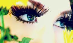 Beautiful Makeup Eyes - stock photo