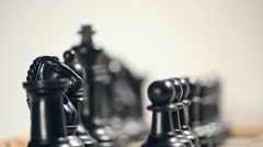 Shifting focus on chess Stock Footage