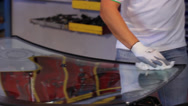 Stock Video Footage of car windshield repair and replacement