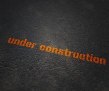under construction - stock illustration