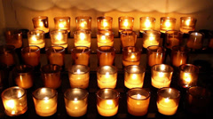 101 Candles Church A - stock footage