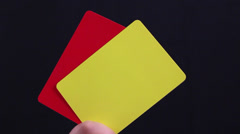 Fair Play. Soccer Penalty cards. Stock Footage