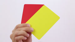 Fair Play. Soccer Penalty cards. - stock footage