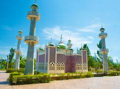 pattani central mosque,south thailand - stock photo