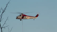 Sikorsky H-34 Helicopter 1 Hovering Stock Footage