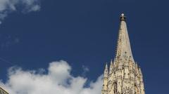 One Vienna city symbol, Stephansplatz church Stock Footage