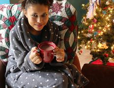 Cocoa by the Tree Stock Photos