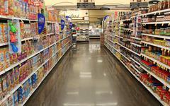 Grocery Isle Stock Photos