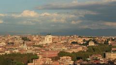 The city ROME establishing shot 4 Stock Footage