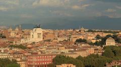 The city ROME establishing shot 3 Stock Footage