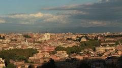 The city ROME establishing shot 2 Stock Footage
