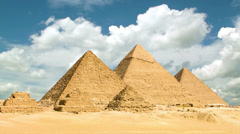 Timelapse of the great pyramids in Giza valley, Cairo, Egypt Stock Footage