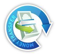 money transfer illustration design - stock illustration