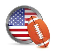 Stock Illustration of american football illustration design