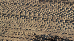 Several truck tires on the ground Stock Footage