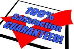 100% Satisfaction Guaranteed Concept - stock illustration