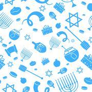 Seamless Israeli Holiday Pattern Stock Illustration