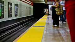 SF Subway Time Lapse Stock Footage