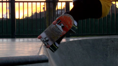 Skateboard Grind & Front Side Air Stock Footage