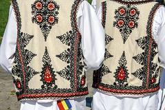 traditional romanian folk costume.detail 34 - stock photo