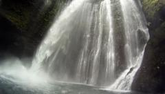 Camera inside waterfall - stock footage