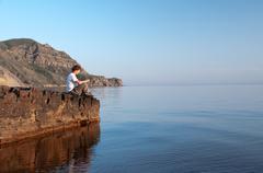 Stock Photo of resting seaside