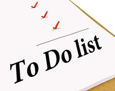 To Do Check List - stock photo