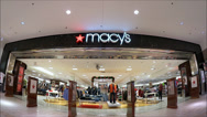 Stock Video Footage of Macys Entrance