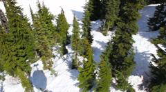 Ski Lift Ride Ground - stock footage
