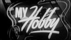 MY HOBBY Vintage Old Film Title Graphic Leader 8mm 7078 Stock Footage