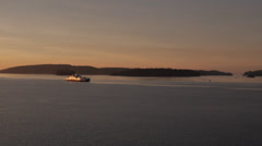 BC Ferry Skeena Queen in Early Morning Stock Footage