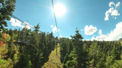Ski Lift Ride Time Lapse Stock Footage