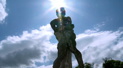 Sculpture at Chateau du Lude (3) - Le Lude, France Stock Footage