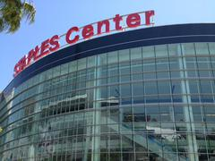 Staples Center - Downtown Los Angeles - Day Stock Photos